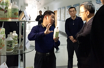 中央政治局委员、广东省省委书记胡春华视察我公司生产基地