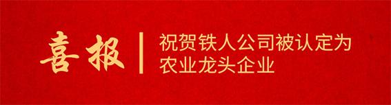 喜报!祝贺铁人公司被认定为佛山市禅城区区级农业龙头企业