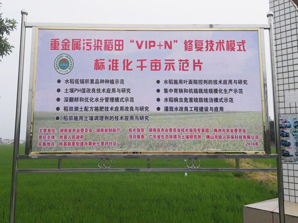 2018-2020年攸县重金属污染万亩轻中度污染耕地治理项目