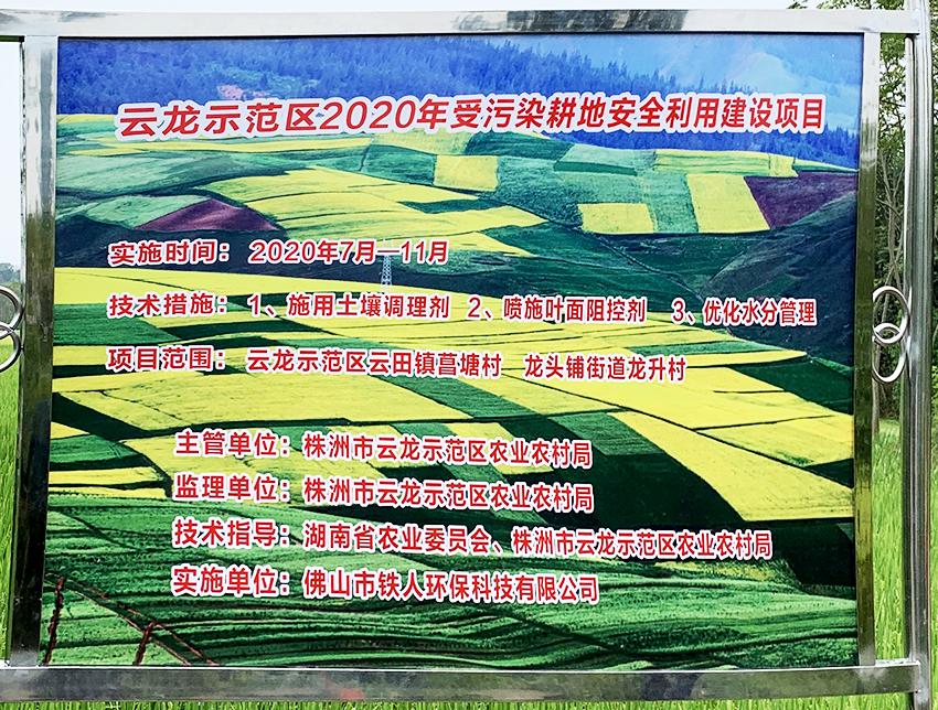 云龙示范区2020年受污染耕地安全利用建设项目